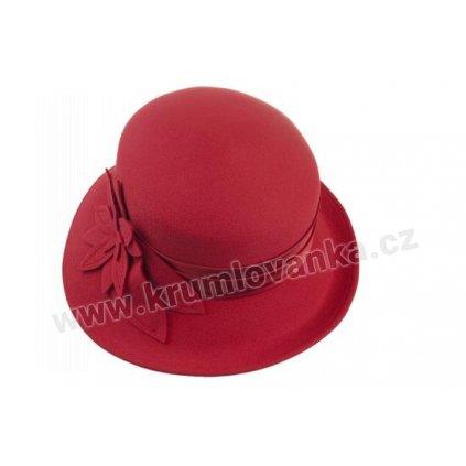 Dámský plstěný klobouk TONAK 50122/03 červený Q 1228