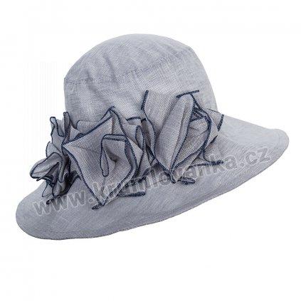 Dámský letní klobouk Krumlovanka  403259 světle šedý