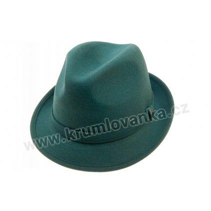 Plstěný klobouk TONAK Trilby Kornfeld 21145/17 modrozelený Q 4042