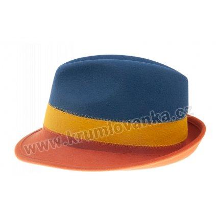 Plstěný klobouk TONAK 11510/13 modrý Q 3271
