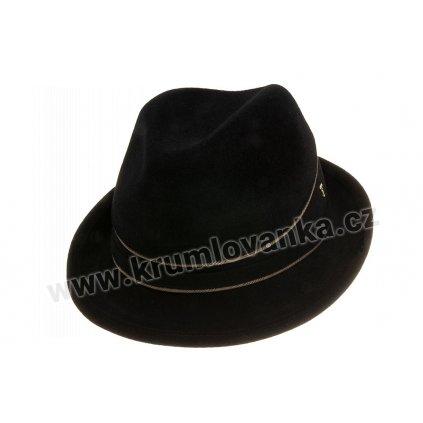 Plstěný klobouk Trilby Uomo 12757/18 černý Q 9040