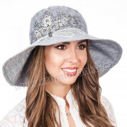 Dámský letní klobouk Krumlvanka 403591 světle modrý