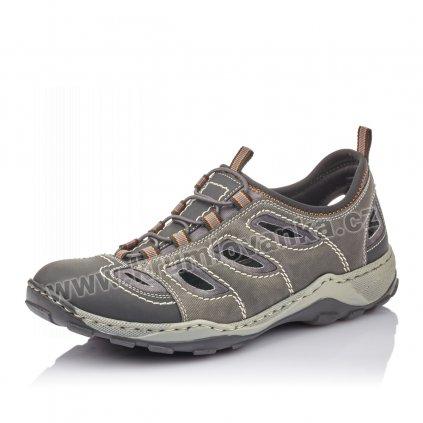Pánské sandály RIEKER 08065-02 šedé