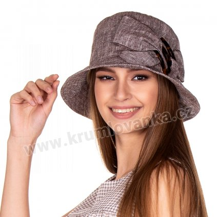 Dámský letní klobouk bucket Krumlovanka 434982  hnědý