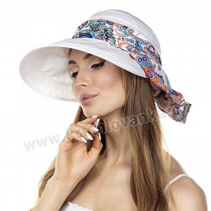 Dámská letní čepice s kšiltem Krumlovanka 992357 bílá