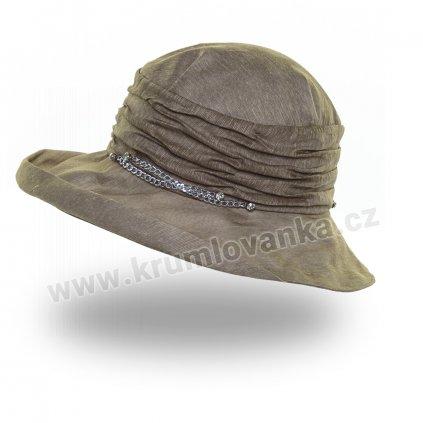 Dámský letní klobouk Krumlovanka 441398 khaki
