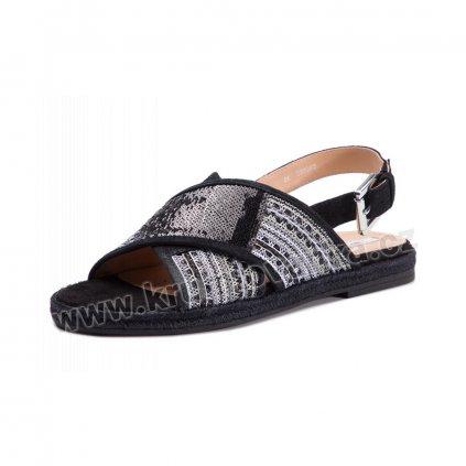 Dámské sandály Espadrilky GEOX D925SC 0DS21 C9999 černá