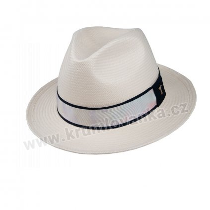 Letní klobouk TONAK Fedora Magnolia 36069 slonová kost