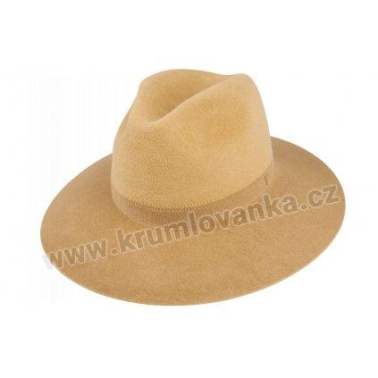 Plstěný klobouk TONAK Fedora Duo Pastel 53708/20/Q7053 světle béžová-béžová