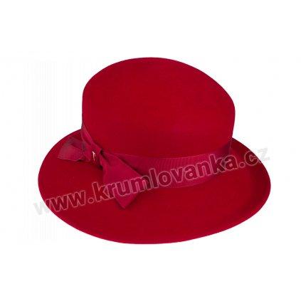 Plstěný klobouk TONAK 53710/20/Q1140 vínový