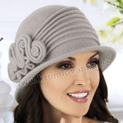 Dámský zimní klobouček  W-0022/529 šedý