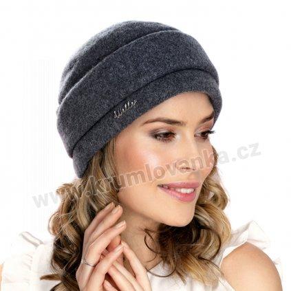 Dámská zimní čepice W-0058/844 antracitově šedá