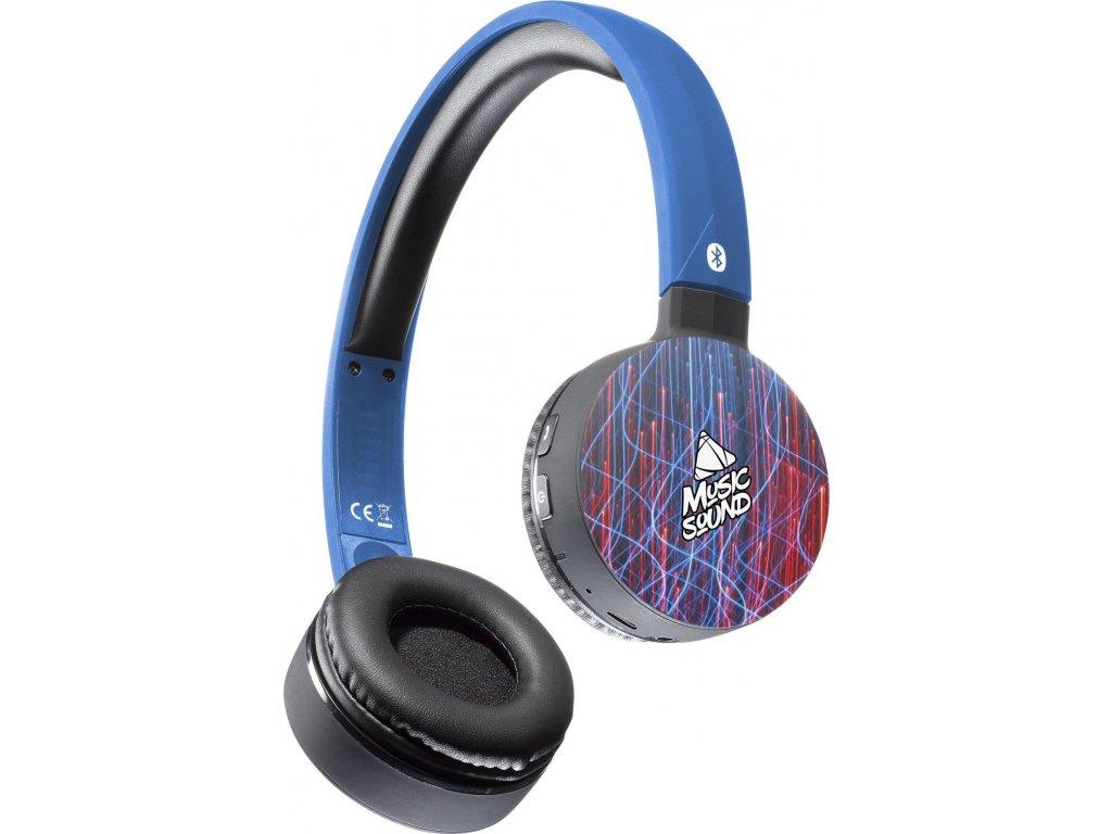 Bluetooth sluchátka MUSIC SOUND s hlavovým mostem a mikrofonem