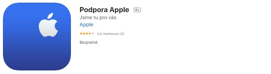 Apple podpora v aplikaci