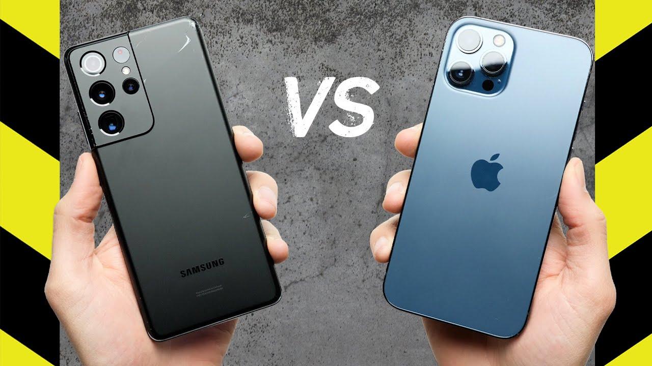 Test odolnosti: Samsung Galaxy S21 Ultra vs. Apple iPhone 12 Pro max
