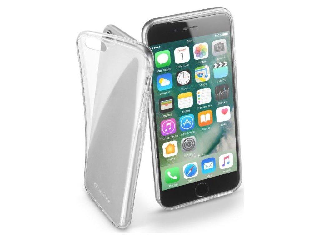 Extratenký zadní kryt CellularLine Fine pro Apple iPhone 7/8/SE (2020), bezbarvý