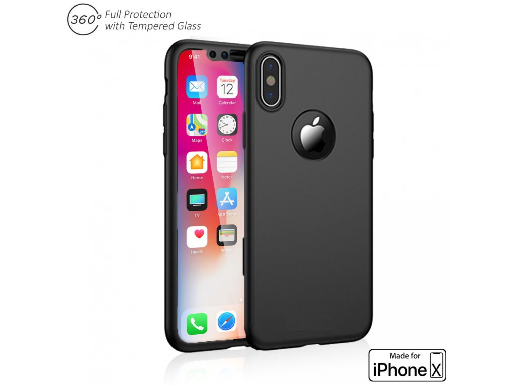 360 case iphone X clearo black