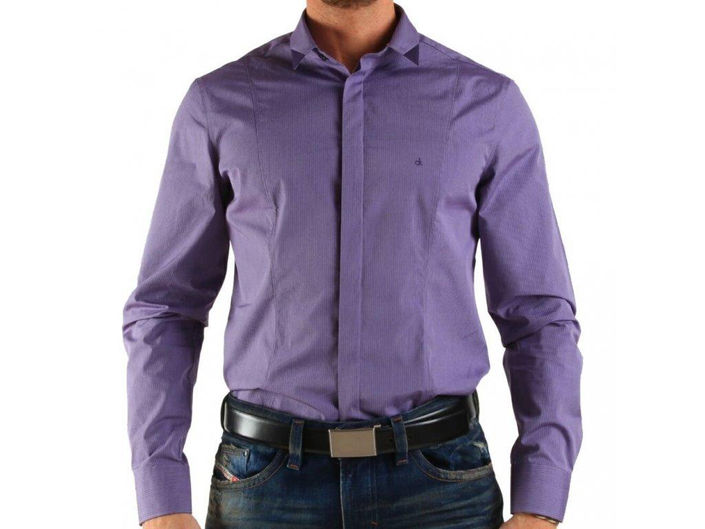 Calvin Klein pánská košile Violet velikost L - 43 17 - Kryteo.cz 36dbe840da