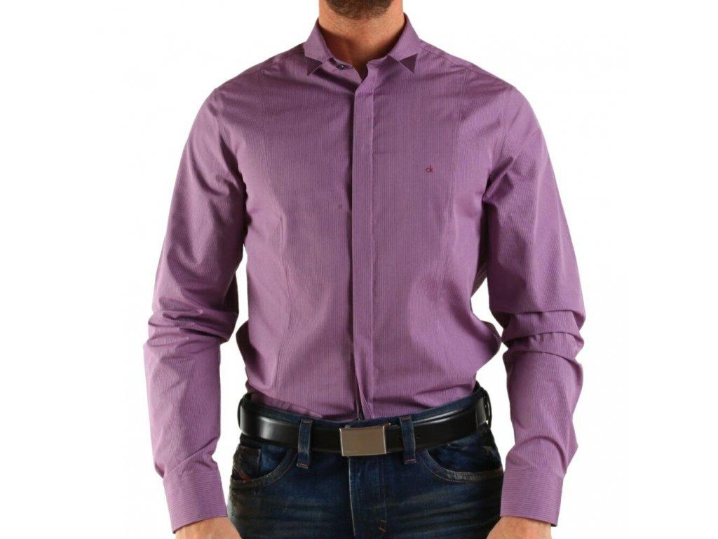 Calvin Klein pánská košile Purple velikost L - 43 17 - Kryteo.cz 62e8755075