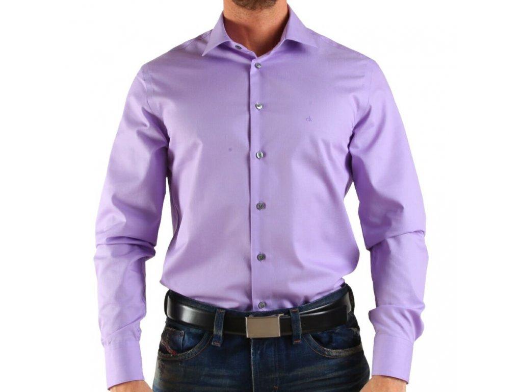Calvin Klein pánská košile Lila velikost M - 41 16 - Kryteo.cz ebd76ac500