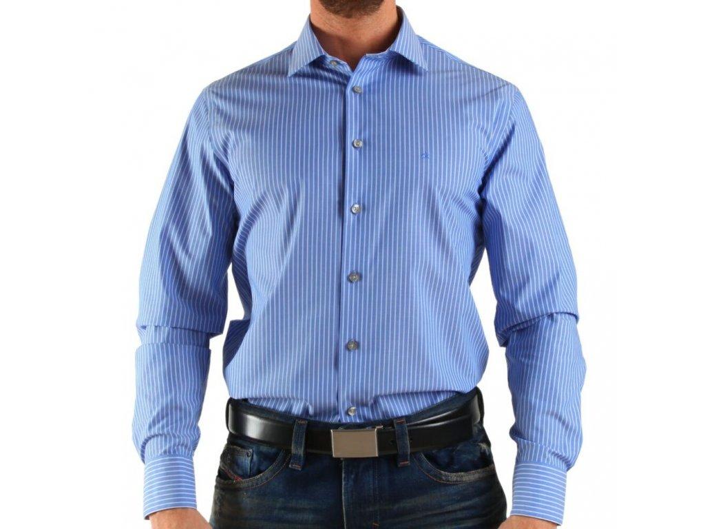 Calvin Klein pánská košile Blue - White velikost L - 43 17 - Kryteo.cz 6b9efd77da