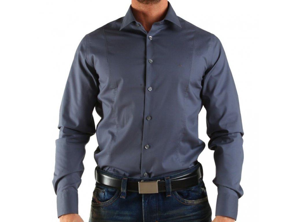 Calvin Klein pánská košile Gray velikost XL - 44 17 3bd8d969e2