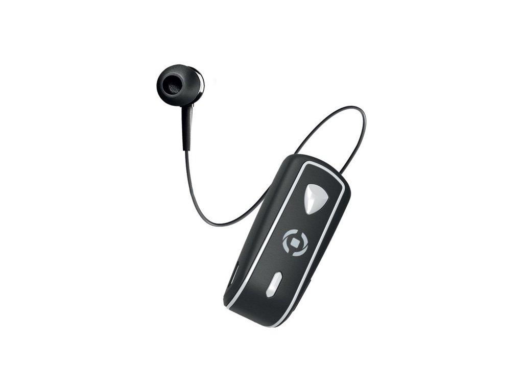 Bluetooth headset CELLY SNAIL s klipem a navijákem kabelu, černý