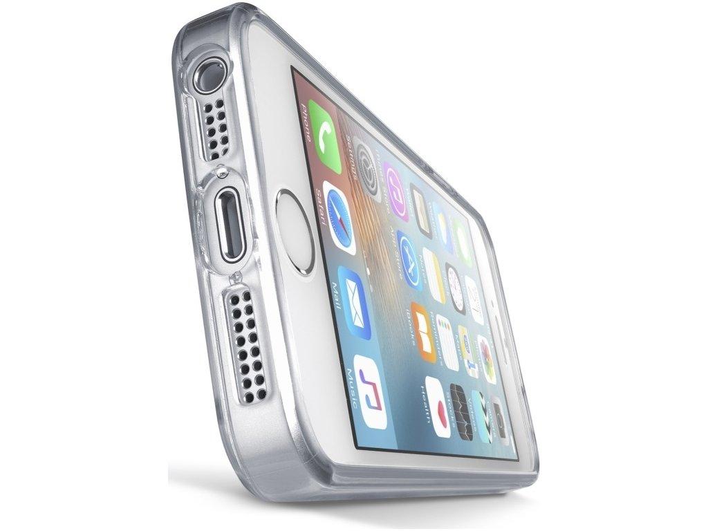 Zadní čirý kryt s ochranným rámečkem Cellularline CLEAR DUO pro Apple iPhone 5/5S/SE