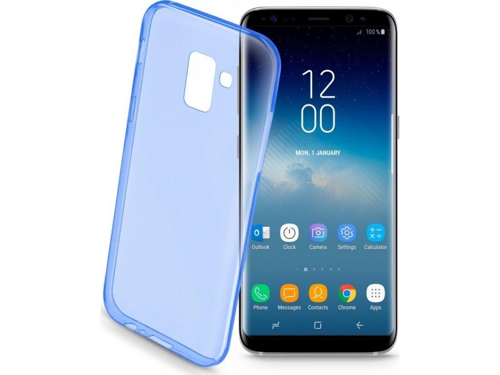 Barevné gelové pouzdro CELLULARLINE COLOR pro Samsung Galaxy S9, modré