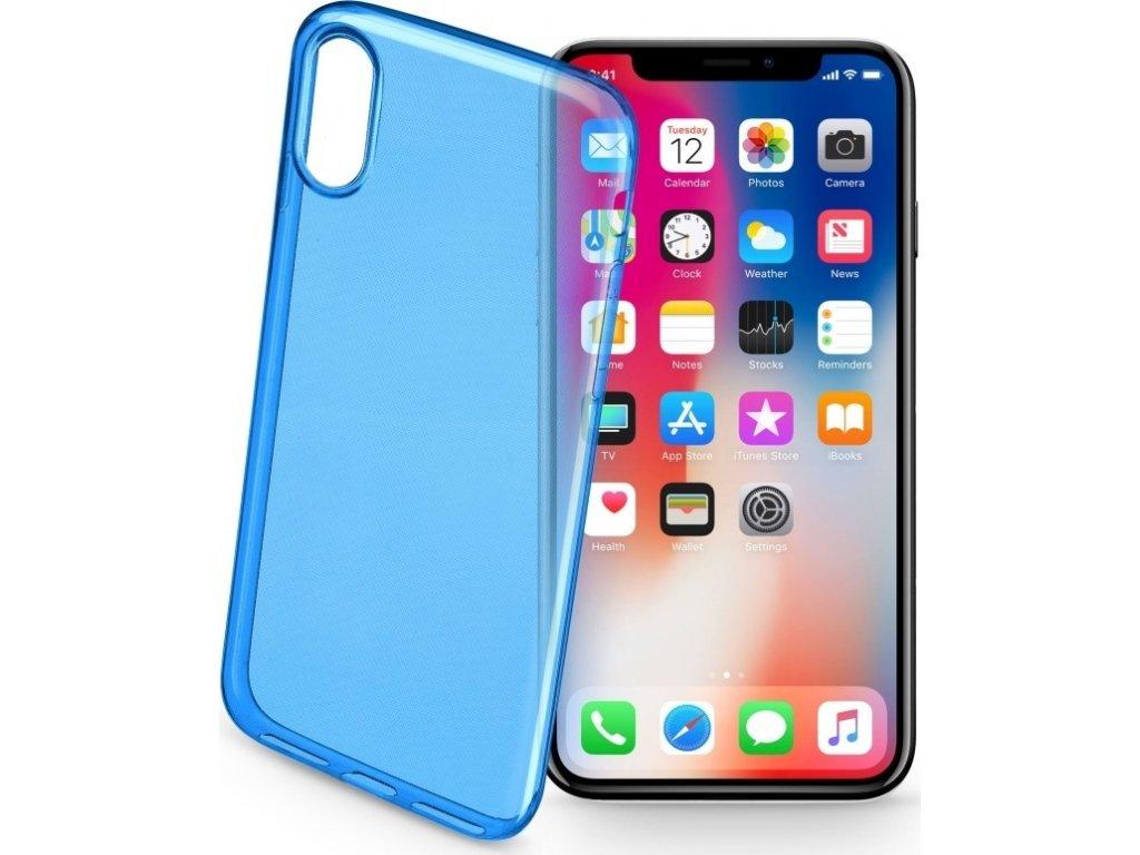 Barevné gelové pouzdro CELLULARLINE COLOR pro Apple iPhone X/XS, modré
