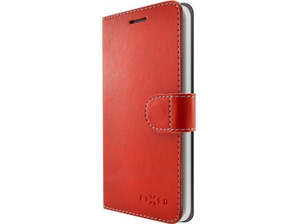 Pouzdro typu kniha FIXED FIT pro Apple iPhone 5/5S/SE, červené