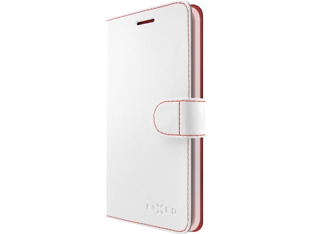 Pouzdro typu kniha FIXED FIT pro Apple iPhone X/XS, bílé