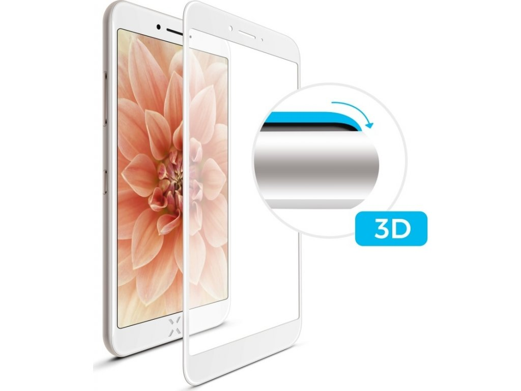 Ochranné tvrzené sklo FIXED 3D Full-Cover pro Apple iPhone 6/6S/7/8, s lepením přes celý displej, bílé, 0.33 mm