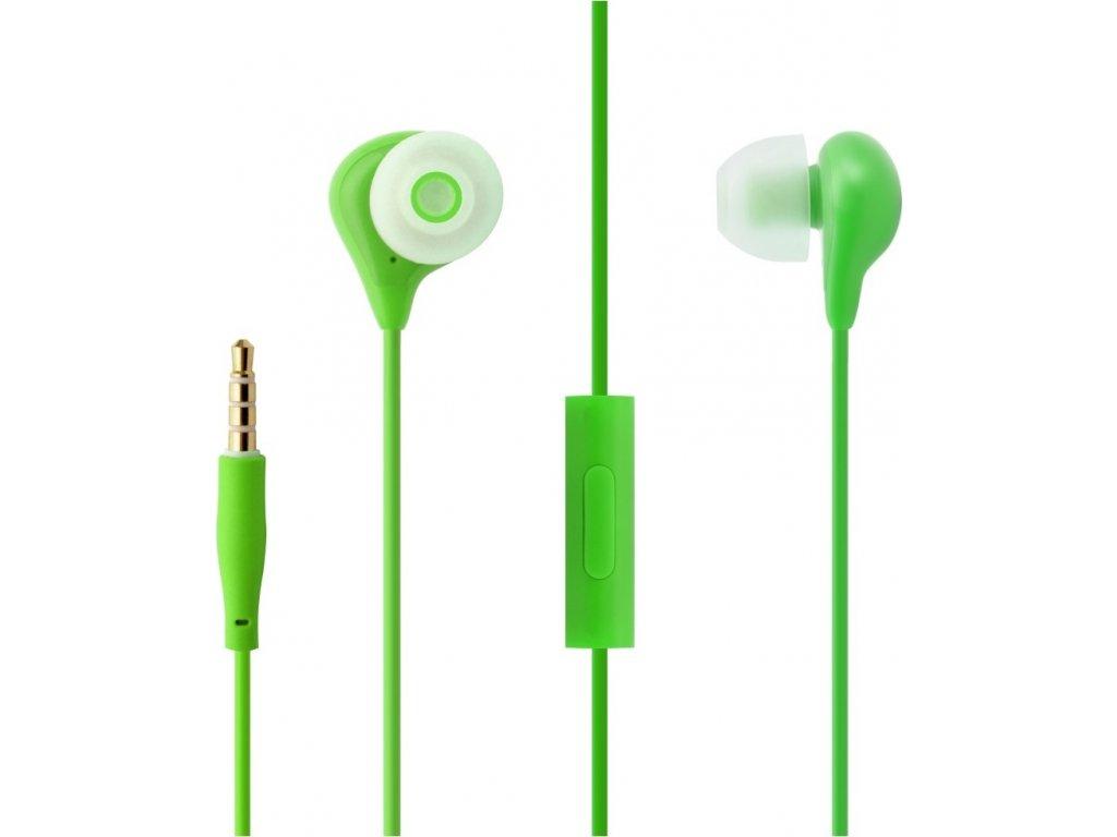 Voděodolná in-ear sluchátka s mikrofonem FIXED EGG1, IPX3, zelená