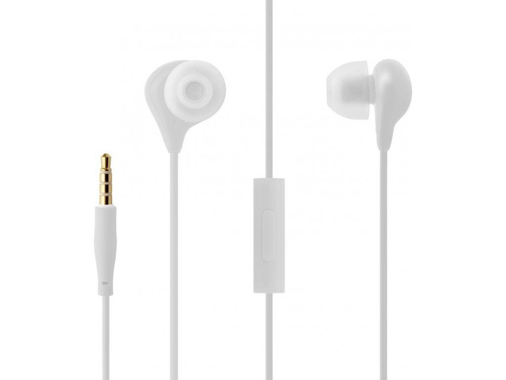 Voděodolná in-ear sluchátka s mikrofonem FIXED EGG1, IPX3, bílá