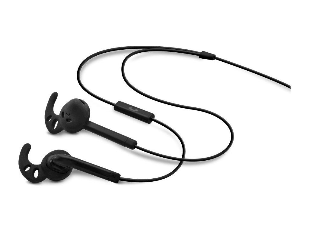 Voděodolná sportovní sluchátka s mikrofonem FIXED EGG3, IPX3, černá
