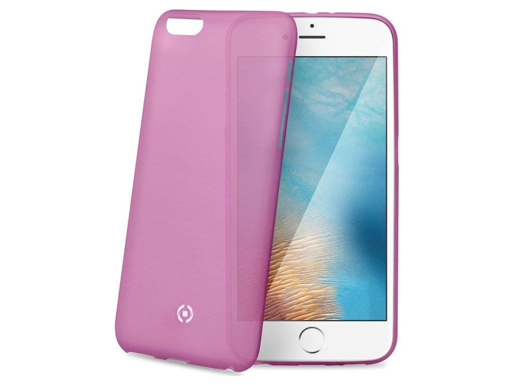 Ultra tenké TPU pouzdro CELLY Frost pro Apple iPhone 7/8, 0,29 mm, růžové