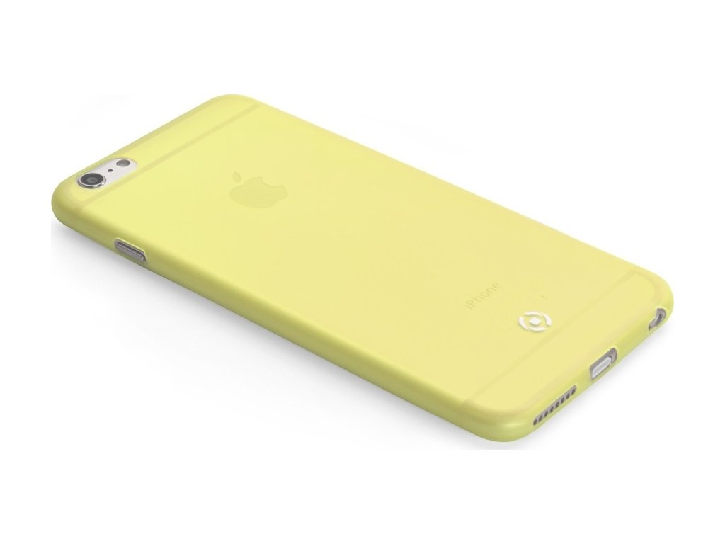 Ultra tenké TPU pouzdro CELLY Frost pro Apple iPhone 6/6S, 0,29 mm, žluté