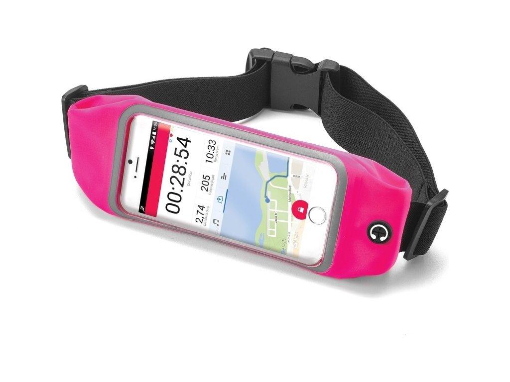 """Sportovní neoprénové pouzdro CELLY RunBelt View, pro telefony do 5.5"""", růžové"""
