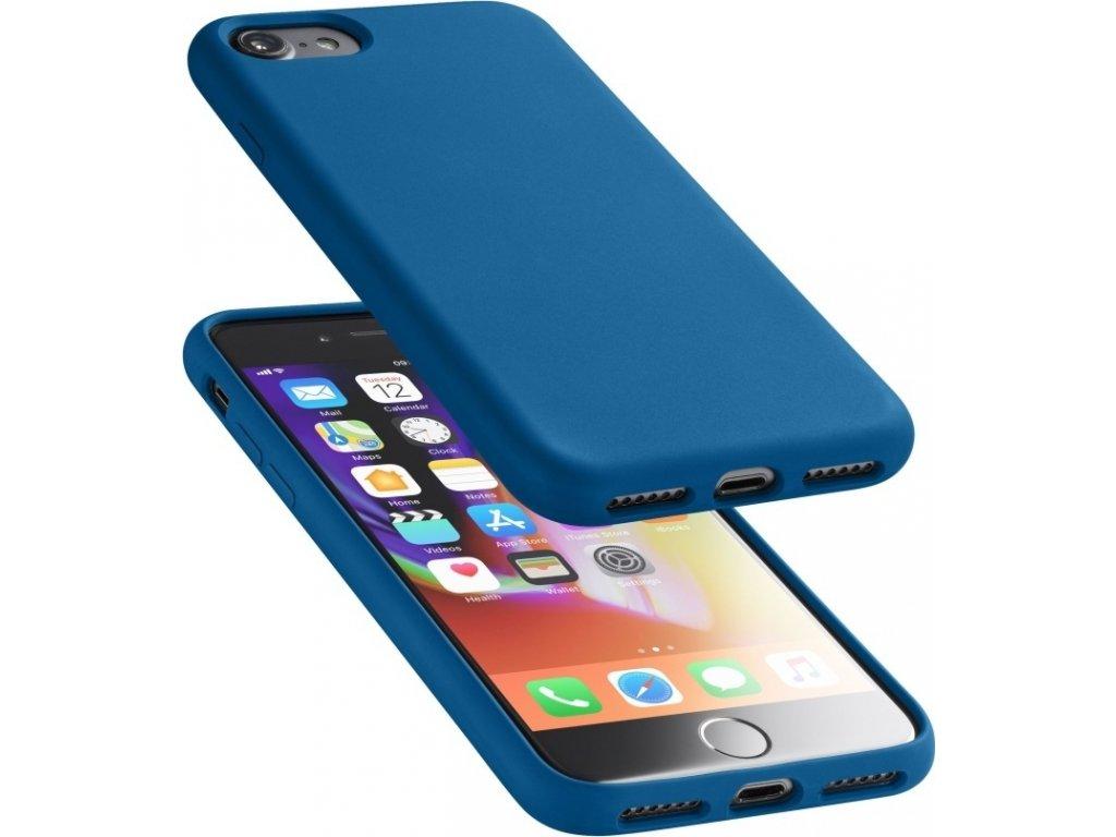 Ochranný silikonový kryt Cellularline Sensation pro Apple iPhone 6/7/8/SE (2020), modrý