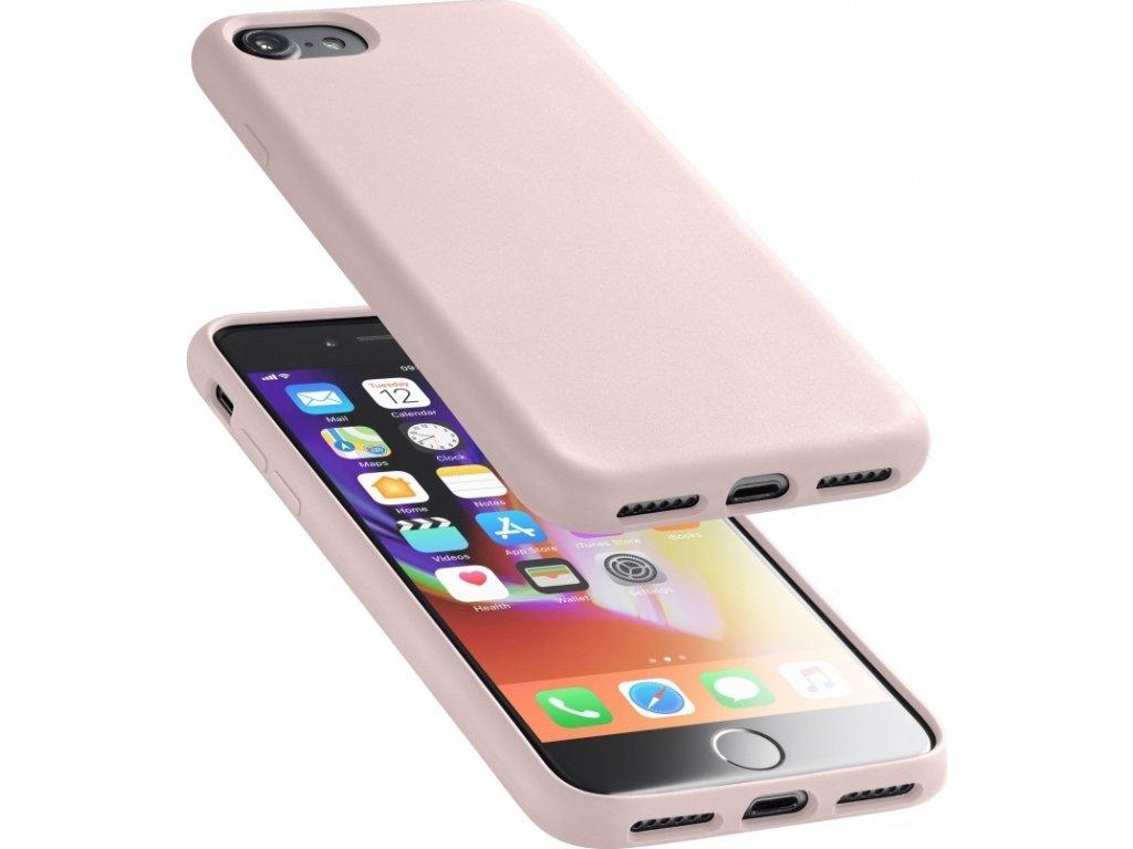 Ochranný silikonový kryt Cellularline Sensation pro Apple iPhone 6/7/8/SE (2020), starorůžový