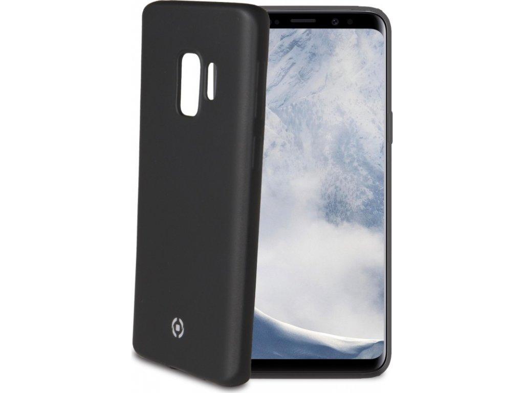 TPU pouzdro CELLY Softmatt pro Samsung Galaxy S9, matné provedení, černé