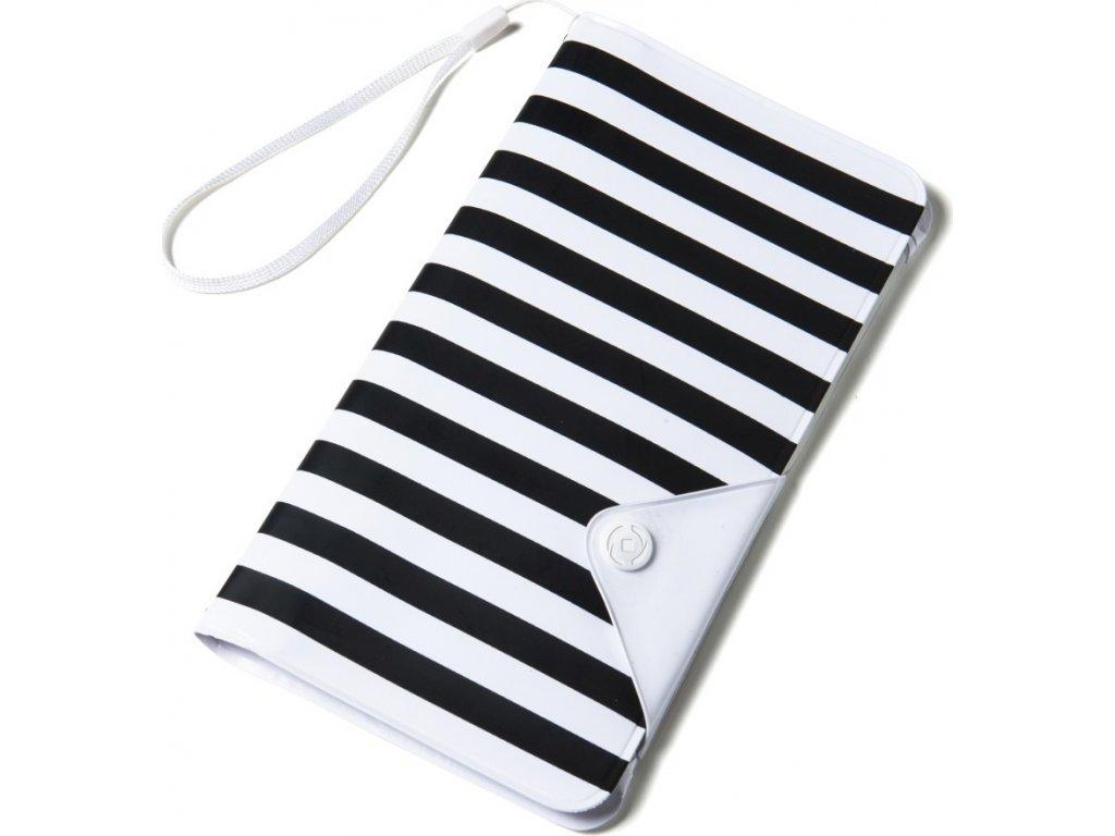 """Univerzální voděodolné pouzdro s peněženkou CELLY Splash Wallet pro telefony 5,7 """", bílé"""