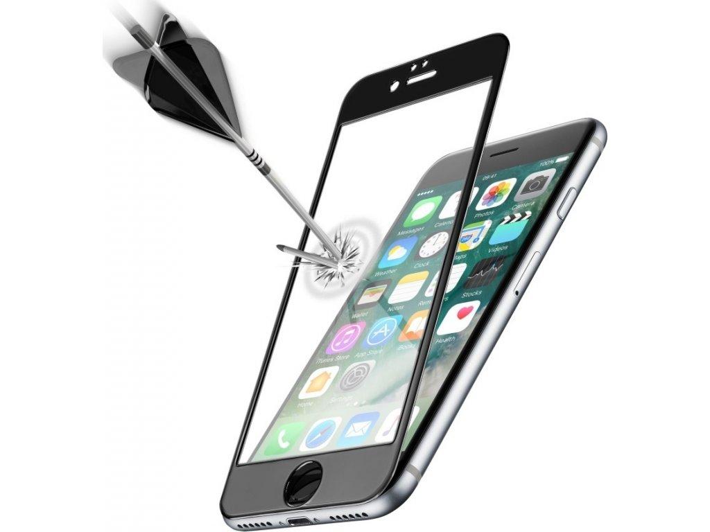 Ochranné tvrzené sklo pro celý displej Cellularline Capsule pro Apple iPhone 7/8/SE (2020), černé