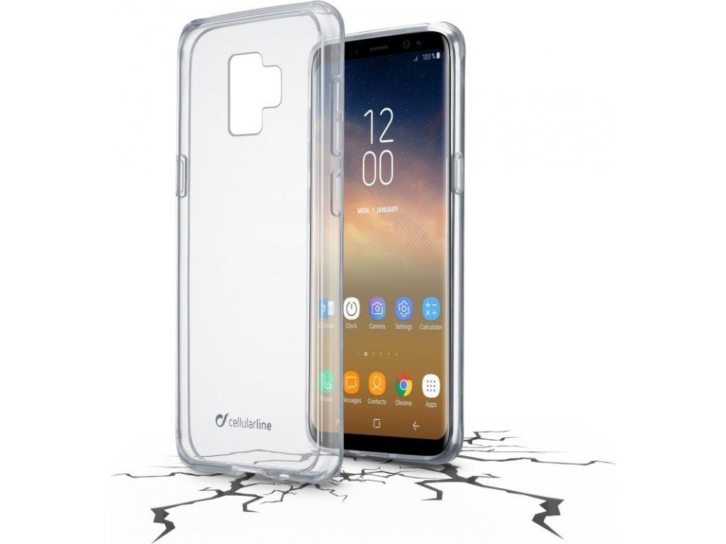Zadní čirý kryt s ochranným rámečkem Cellularline CLEAR DUO pro Samsung Galaxy  S9 Plus