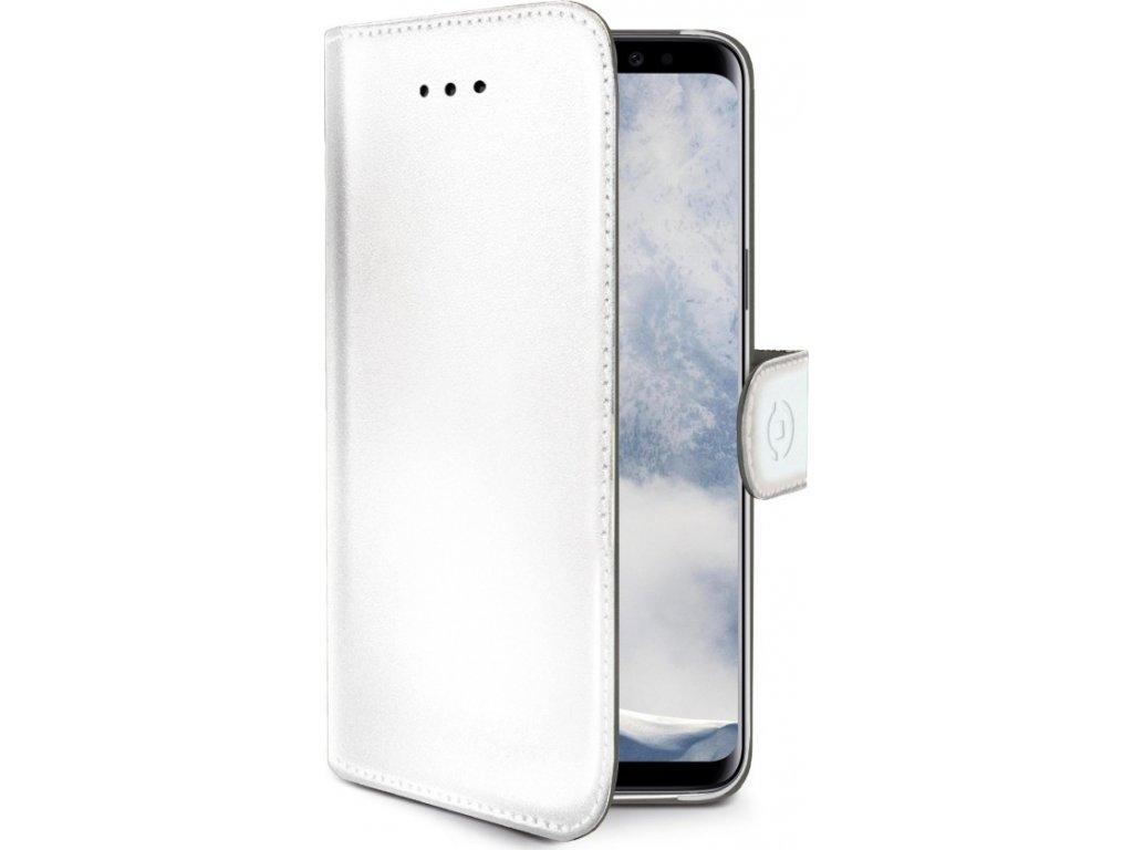 Pouzdro typu kniha CELLY Wally pro Samsung Galaxy S9 Plus, PU kůže, bílé