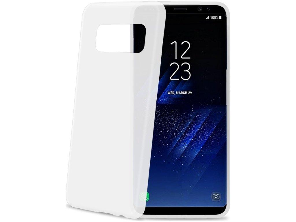 Ultra tenké TPU pouzdro CELLY Frost pro Samsung Galaxy S8 Plus, 0,29 mm, bílé