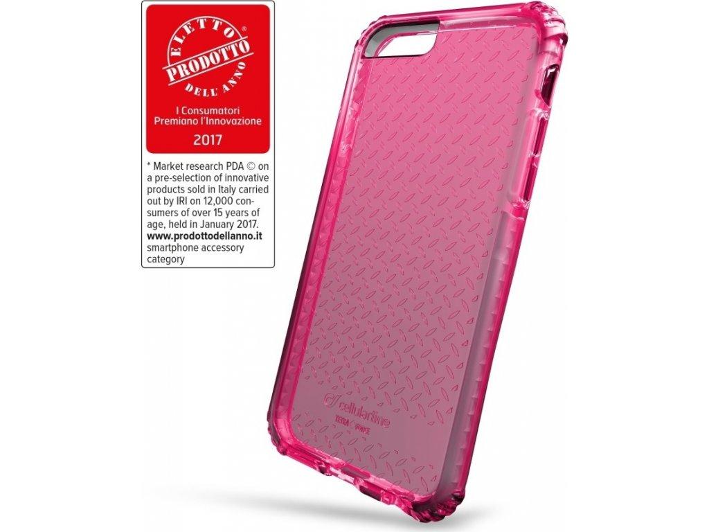 Ultra ochranné pouzdro Cellularline Tetra Force Shock-Twist pro Apple iPhone 7/8/SE (2020), 2 stupně ochrany, růžové