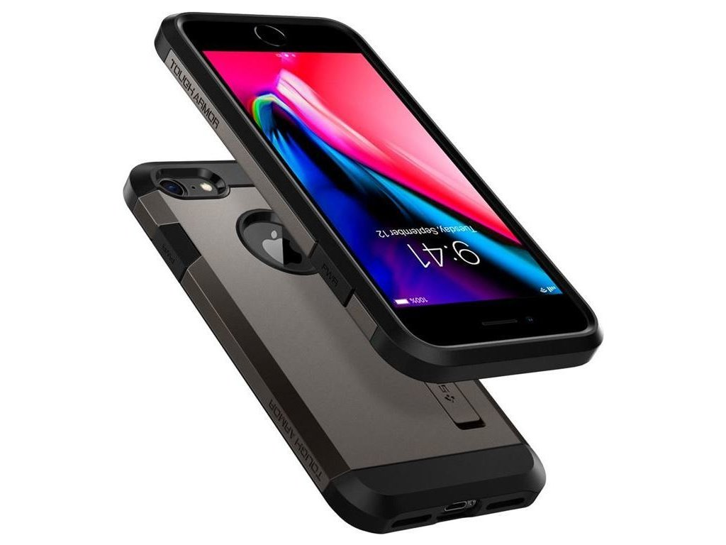 Spigen Tough Armor 2, gunmetal - iPhone 8/7