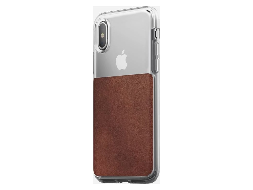 Nomad Clear case, rustic brown - iPhone XS/X